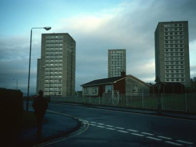 View of blocks on Allan Crescent and Tay Place