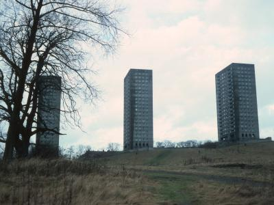 View of Linkwood Crescent blocks