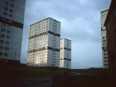 View of 19-storey blocks on Wester Common Road