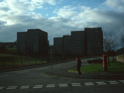 View of 8-storey Prospecthill Road blocks from Aikenhead Road