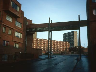 View of 8-storey and 5-storey blocks on Woodside development
