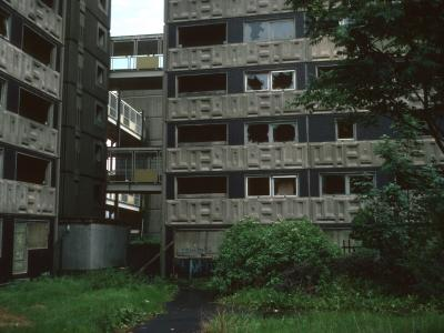 View of 7-storey blocks in Hutchesontown Area 'E'