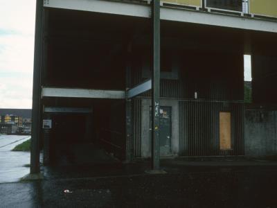 Entrance to 7-storey block