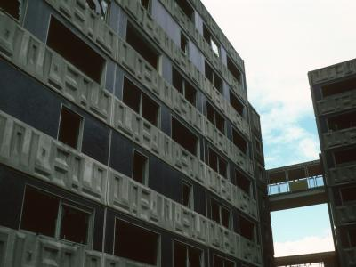 View of condemned 7-storey blocks