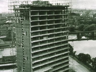 View of Hutchesontown Area 'B' blocks under construction
