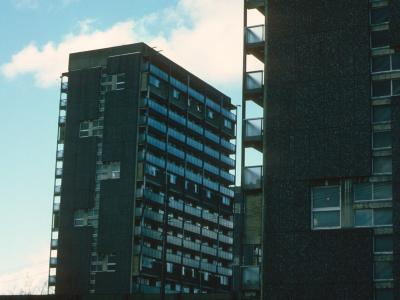View of two 18-storey blocks at Waddell Court