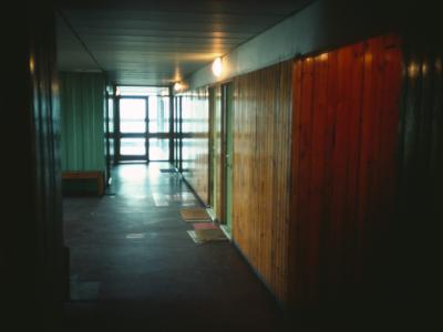 View of lft lobby in 18-storey block in Hutchesontown Area 'B'