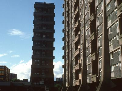 View of 20-storey blocks on Queen Elizabeth Square