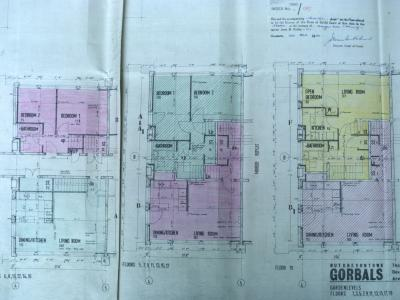 Floor plan of flats in 20-storey blocks on Queen Elizabeth Square