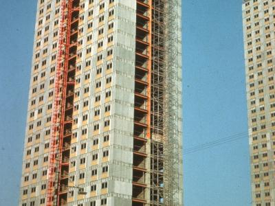 View of 31-storey blocks on Red Road