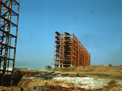 View of Red Road blocks under construction