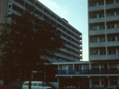 View of 10- and 8-storey blocks