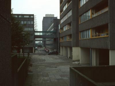 View of typical 6-storey block squares with 12-storey blocks behind
