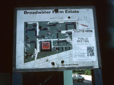Map of Broadwater Farm Estate