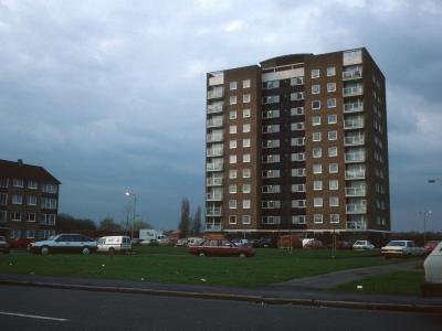 View of Frank Towell Court from Glebelands Road