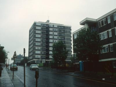 View of Prospect House looking East along Donegal Street