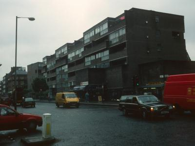 View of The Triangle development from Goswell Road