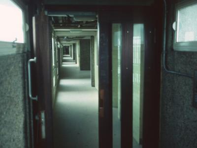 7th floor hallway of Trellick Tower