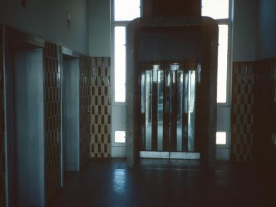 Lift lobby in Trellick Tower