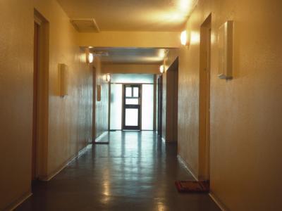 Nineteenth storey corridor