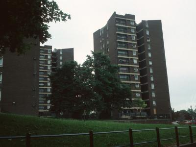 View of two 13-storey blocks