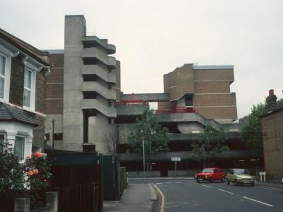 View of Milford Towers from Brookdale Road