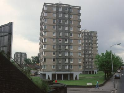 View of Sevenoaks House and Tonbridge House, looking South down Penge Road