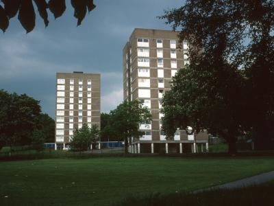 View of both 10-storey blocks on College Green