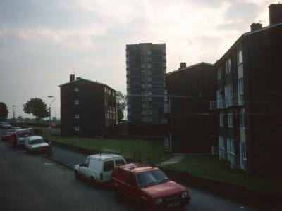 View of both Lodge Lane blocks from King Henry's Drive