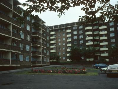 View of Poplar House from Brockley Road with Conifer House in foreground