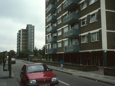 View of both 9-storey blocks from Milton Court Road