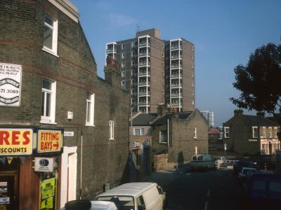 View of 11-storey block on Hollybush Street
