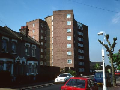View of 8-storey block on Hollington Road