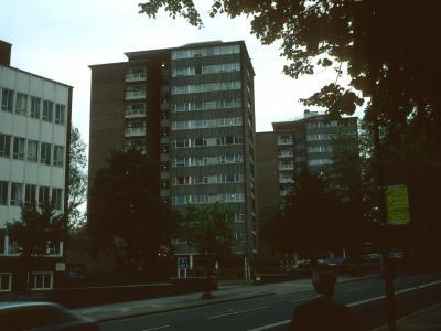 View of Watling Gardens blocks
