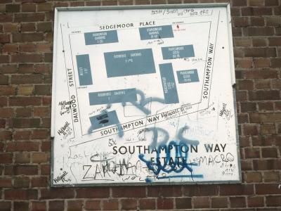 Map of Southampton Way Estate