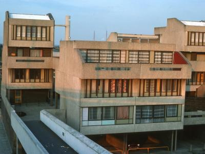 View of blocks on Thamesmead