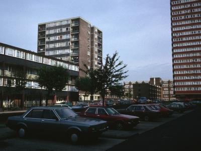 View of Beckley House on left and 19-storey tower of Southern Grove on right