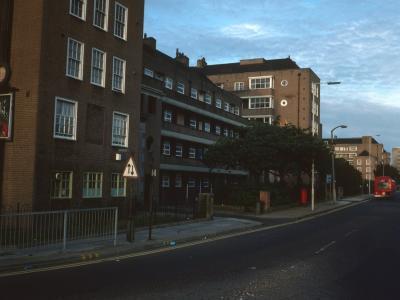 View of 6-storey blocks from Devas Street