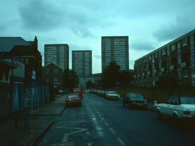View of all three 22-storey blocks in Monteith Estate