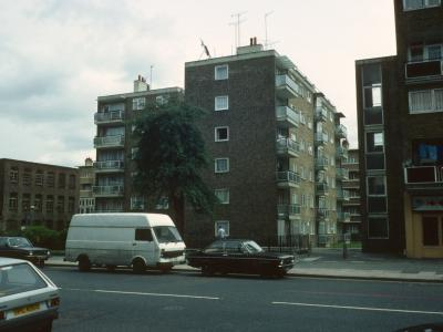View of Frederick Charrington House from Cambridge Heath Road