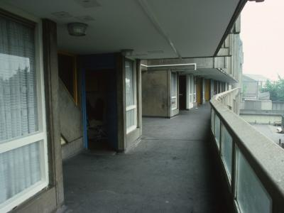 View from balcony of 10-storey block