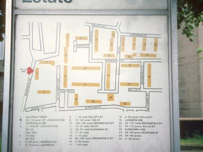 Map of Brownfield Estate