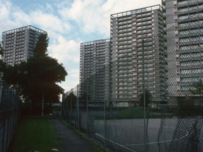 View of 22-storey towers on Oliver Close Estate