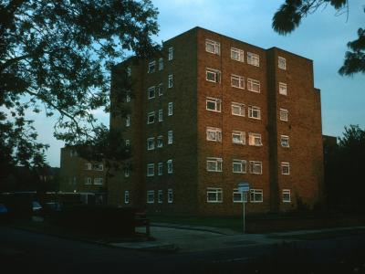 View of one block of The Alders