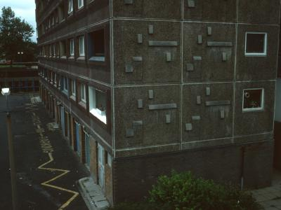 View of 18-storey blocks in South Kilburn Redevelopment Area