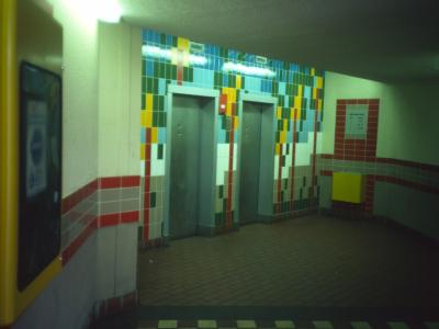 9th story lift hall in Pennethorne House