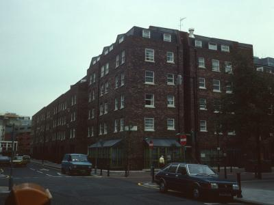 View of Carburton House from corner of Great Titchfield Street and Carburton Street