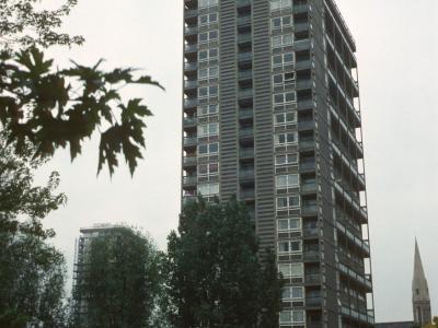 General view of 21-storey blocks on Warwick Estate