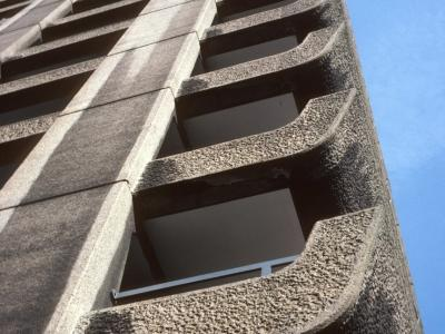 Detail view of high-rise block on Barbican Estate