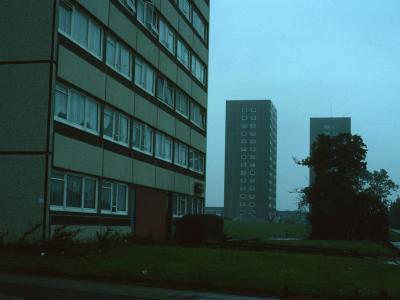 View of 15-storey blocks